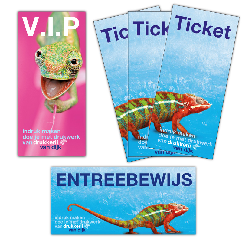 Entreekaarten of tickets bedrukken